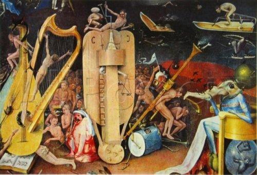 J r me bosch l 39 enfer musical silvestre baudrillart for Jardin des delices j bosch